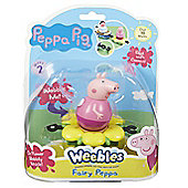 Peppa PP - WEEBLES MINI VEHICLE AND FIGURE
