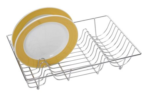KitchenCraft Fold Away Dish Drainer in Chrome