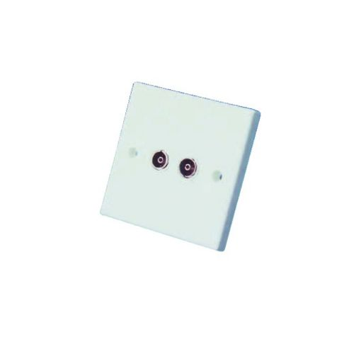 Double Flush Mounting Coaxial Outlet