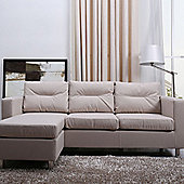 Leader Lifestyle Osaka Chaise Sofa - Luxurious Beige Fabric