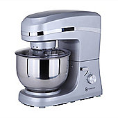 Homegear Electric 1500W Food Stand Mixer+5 Litre Bowl+Lid+ 3 Tools Silver
