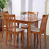 G&P Furniture Windsor House Newark 5 Piece Flip Top Dining Set