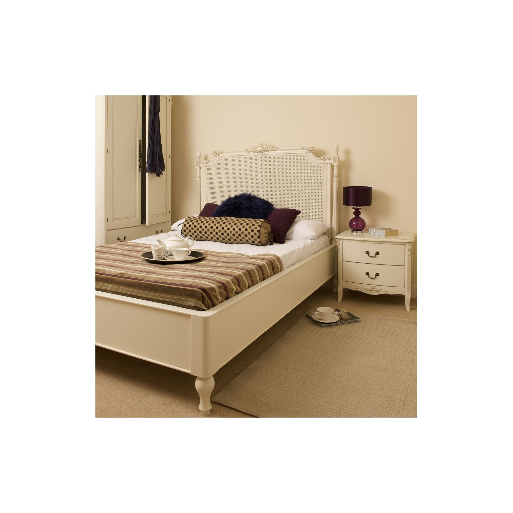 Kelburn Furniture Laurent Rattan Bed - Double at Tescos Direct
