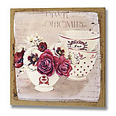 Hill Interiors Floral Dishes Canvas Art