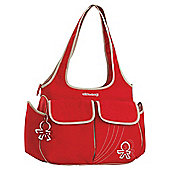 Okiedog Urban Sassy Tote Changing bag, Red/Beige