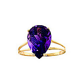 QP Jewellers 5.0ct Amethyst Pear Drop Ring in 14K Gold