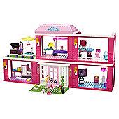 Mega Bloks Barbie Build 'n Play Fab Mansion Playset