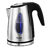 VonShef 2200W Cordless Kettle - Brushed Stainless Steel