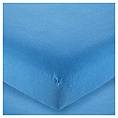 Tesco Brushed Cotton Fitted Sheet Blue, Single