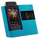 Kitsound X-Dock with FM Radio for iPhone 4/4s, Blue