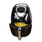 electriQ 3.2L Black Digital Health Air Fryer 1400w with Divider
