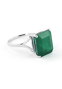 QP Jewellers 5.50ct Emerald Auroral Ring in 14K White Gold