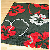 Origin Red Cosmo Black / Red Rug - 150cm x 80cm