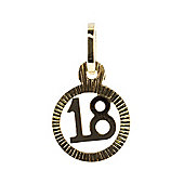 9ct Eighteen 18 Circle Charm 1-63-3923