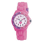 Tikkers Childrens Pink Rubber Strap Watch TK0003