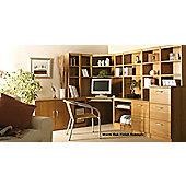 Enduro Home Office Corner Desk / Workstation - English Oak