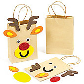 Reindeer Gift Bag Craft Kits for Children (4 Pcs)