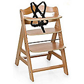 Hauck Alpha+ Highchair, Natural Wood