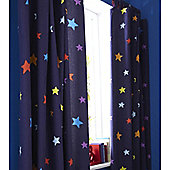 Catherine Lansfield Home Kids Outer Space Curtains Multi 168cm wide x 183cm drop (66x72 inches)