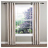 Linen Script Lined Eyelet Curtains 66x54 Natural