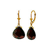 QP Jewellers 17.0ct Garnet Star Drop Earrings in 14K Gold