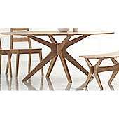 Home Zone Malmo Solid Oak Dining Table