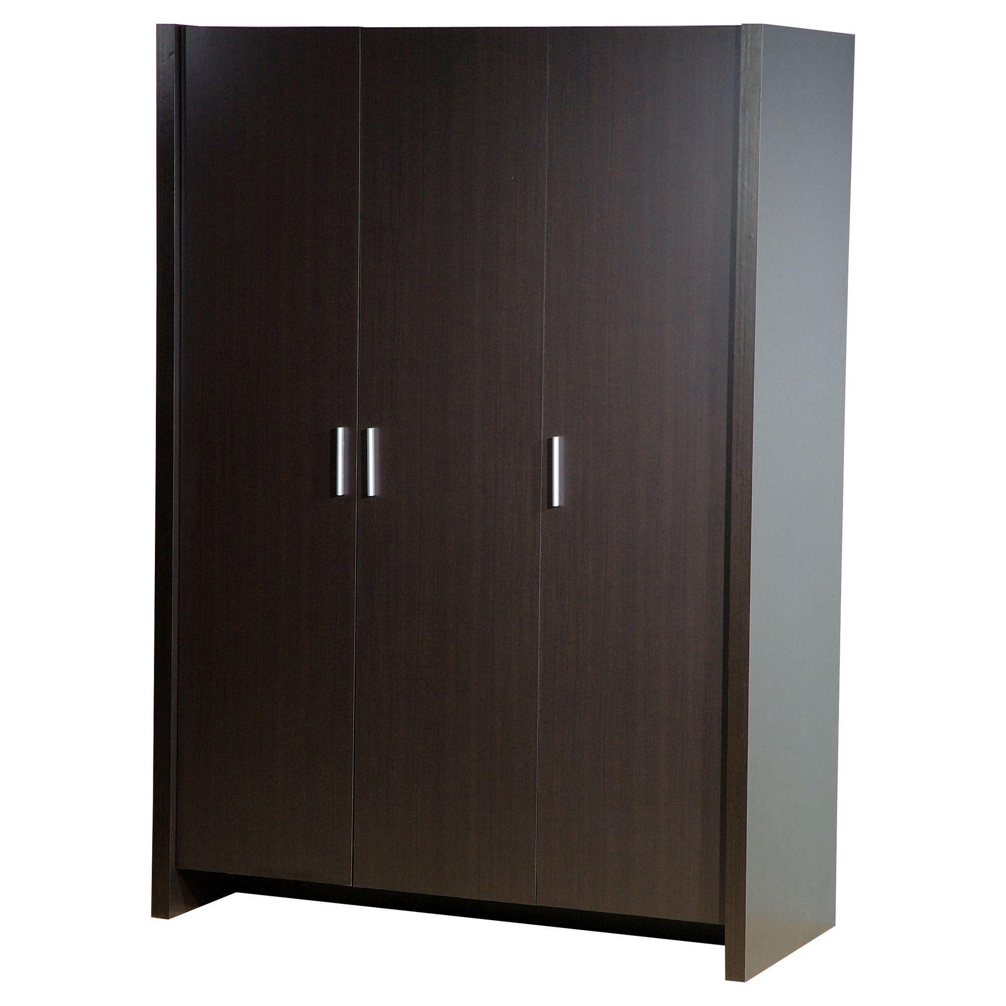 Home Essence Braemar Three Door Wardrobe in Espresso Brown at Tesco Direct