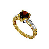 QP Jewellers Diamond & Garnet Fantasy Ring in 14K Gold
