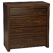 Tribeca 4 Drawer Chest Walnut