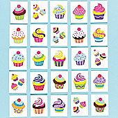 Cupcake Glitter Tattoos (Pack of 24)