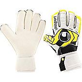 Uhlsport Ergonomic Soft Roll Finger Junior Goalkeeper Gloves - White