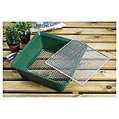 Dobbies Garland 2 In 1 Garden Sieve, Green