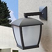 Faro Wilma One Light Wall Lamp in Dark Grey