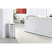 Brabantia 30-Litre Bucket Pedal Bin - Brilliant Steel