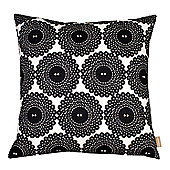 Graduate Collection Button Print Cushion - Black