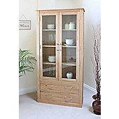 Mobel Oak Large Glazed Display Cabinet