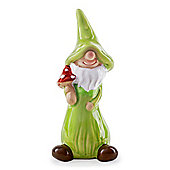 Jimmy the Mushroom Collecting Terracotta Garden Gnome Ornament