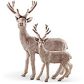 Pair of Standing Gold Christmas Stag Figurine Ornaments