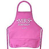 Personalised MRS Pink Apron