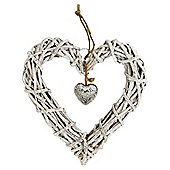 Nautical wicker hanging heart