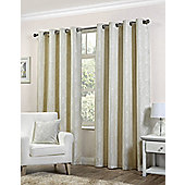 Pippa Ready Made Curtains Pair, 46 x 72 Natural Colour, Modern Designer Look Eyelet curtains