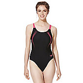 Speedo Endurance®10 Sports Logo Muscle Back Swimsuit - Black