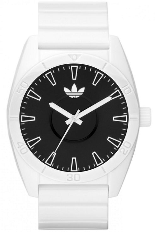Adidas Mid-Size Santiago White Rubber Strap Watch ADH2716