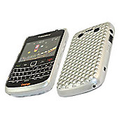 iTALKonline 17473 ProGel Diamond HEX Skin Case - BlackBerry 9700 Bold, 9780 Onyx - Solid Silver