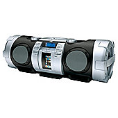 Portable CD Boomblaster with Integrated iPod Dock.