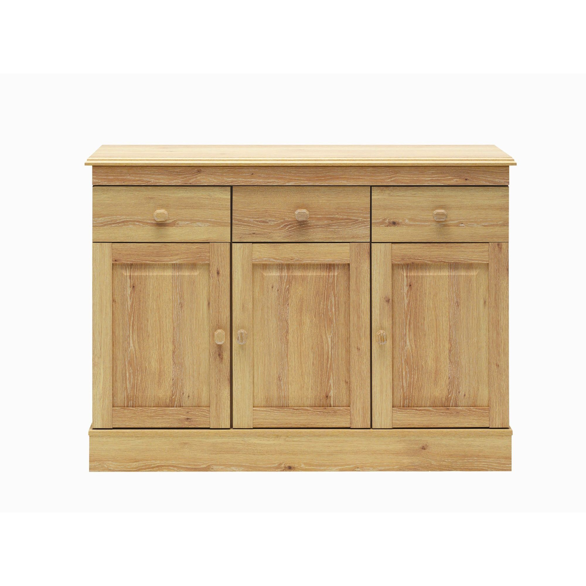 Caxton Driftwood Three Door Sideboard in Limed Oak at Tesco Direct