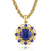 Gemondo Gold Plated Sterling Silver 1.79ct Lapis Lazuli & 3.2pt Diamond Pendant on 45cm Chain