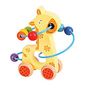 Bigjigs Toys BB069 Giraffe Push Along Bead Frame