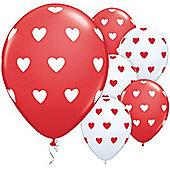 11' Big Hearts Red (6pk)