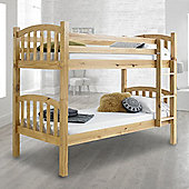 Happy Beds American 3ft Wooden Bunk Bed 2 X Orthopaedic Mattress